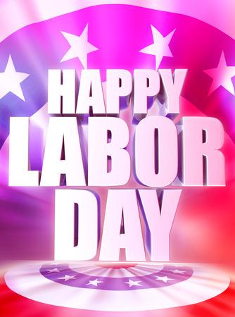 Happy Labor Day poster design  Stock Photo