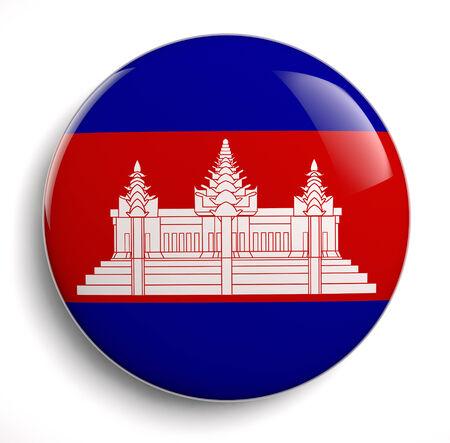 Cambodia flag icon isolated icon. 版權商用圖片