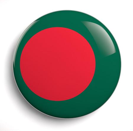 bangladesh 3d: Bangladesh national flag isolated icon.