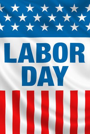Labor Day USA poster banner design  Stock Photo