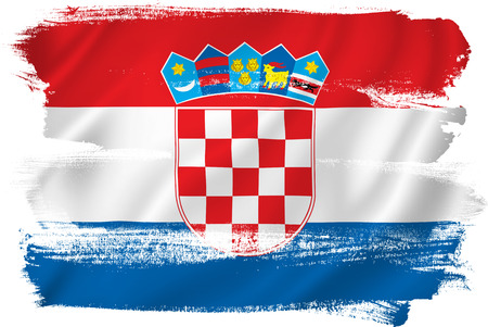 bandiera croazia: Croazia bandiera Archivio Fotografico