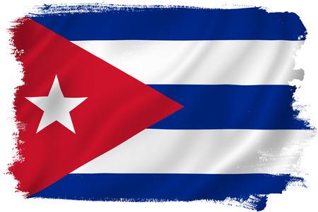 キューバの旗 写真素材