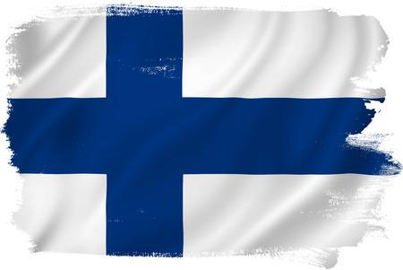 bandera de finlandia: Finlandia bandera Foto de archivo