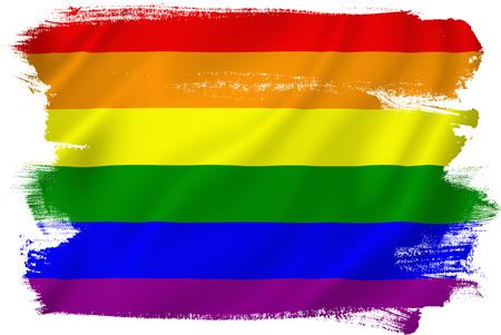 boda gay: Bandera del orgullo gay