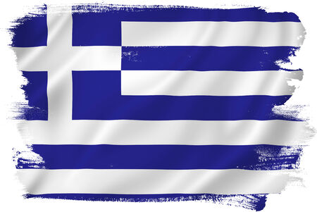 greece flag: Greece flag Stock Photo