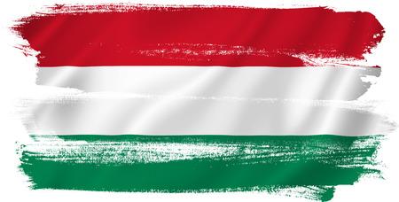 Drapeau hongrois Banque d'images - 31165850
