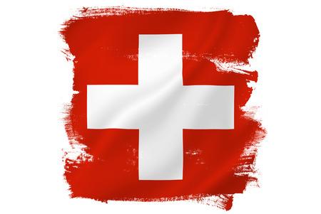 Swiss cross red flag Foto de archivo