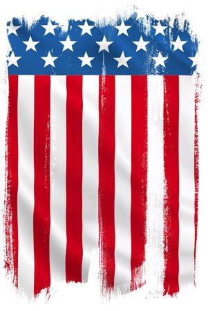 american flag waving: USA American vertical flag