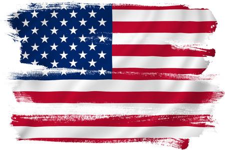 米国のアメリカの旗します。 写真素材