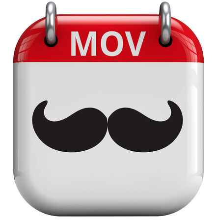event: Mustache month isolated 3D calendar icon.