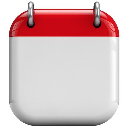 Calendar blank 3D isolated icon.