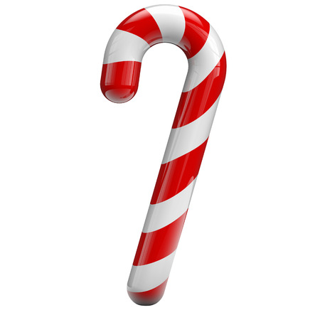 candy cane: Candy cane isolated on white