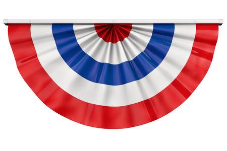 Amerikaanse vlag bunting voor 4 juli of enig Amerikaans feest.