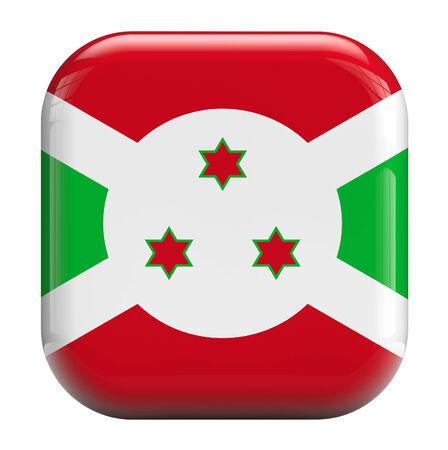 burundi: Burundi flag square icon image isolated on white