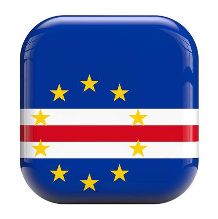 cape verde: Cape Verde flag square icon image isolated on white