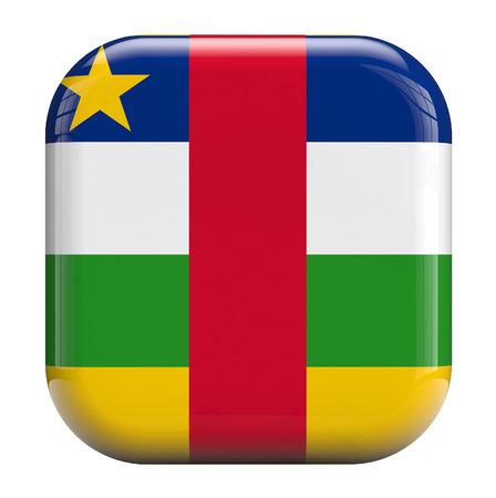 central african republic: Central African Republic flag icon image isolated on white.