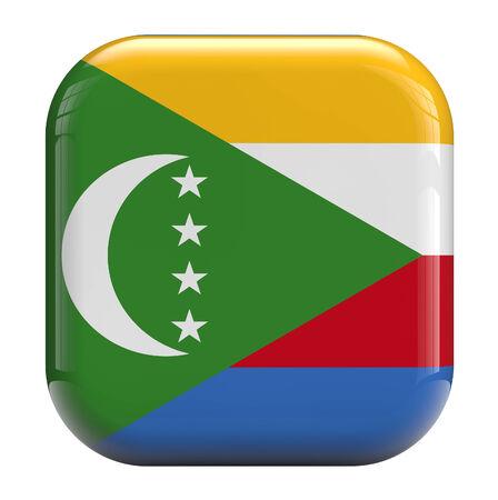comoros: Comoros flag square icon image isolated on white