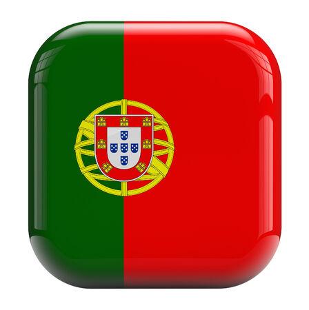 drapeau portugal: Portugal icône drapeau 3D isolé. Banque d'images