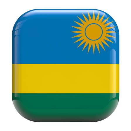 rwanda: Rwanda flag icon isolated on white.