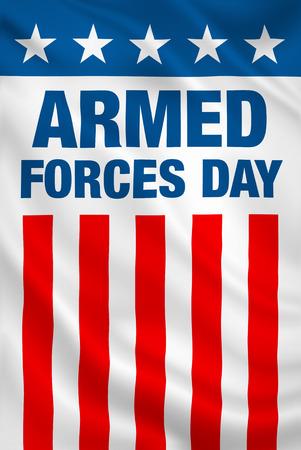 Journée des Forces armées USA vacances vertical patriotique drapeau bannière. Banque d'images - 38937515