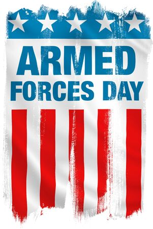 Armed Forces Day USA patriotic design. Clipping path included.