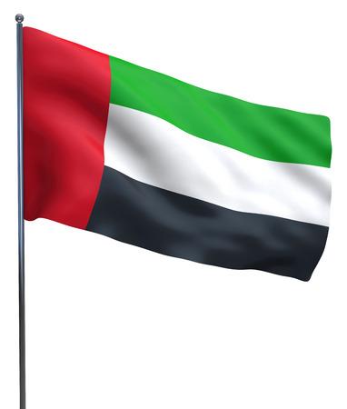 arab flags: UAE Dubai and Abu Dhabi Emirates isolated flag.