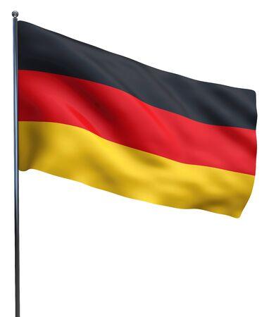 ドイツの国旗が白とひらひらに分離します。 写真素材