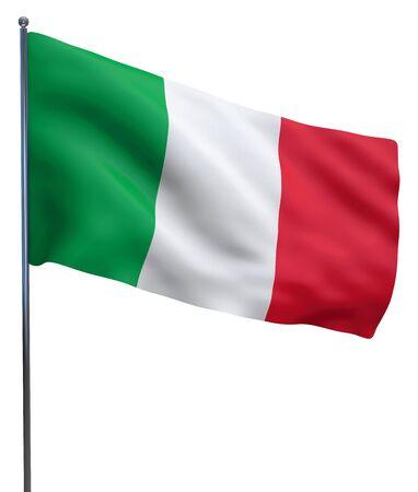 イタリアの旗との分離の白。