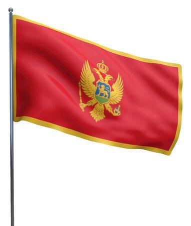 montenegro: Montenegro flag image isolated on white background