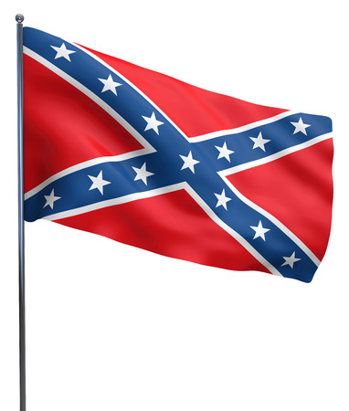 confederate: Confederate flag from the USA Civil War. Stock Photo