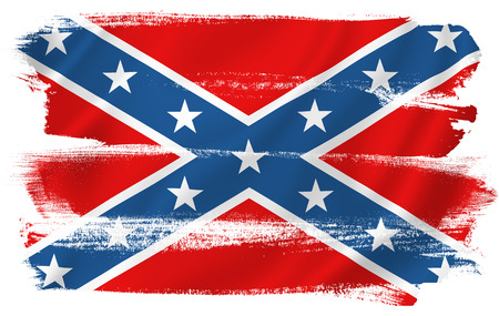 Confederate flag Civil War background texture. Stock Photo
