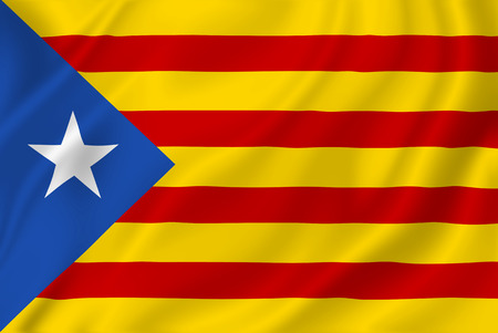 separatist: Catalan flag design stock image.
