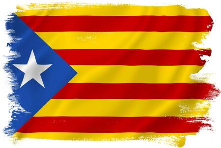 nationalist: Catalonia flag backdrop background texture