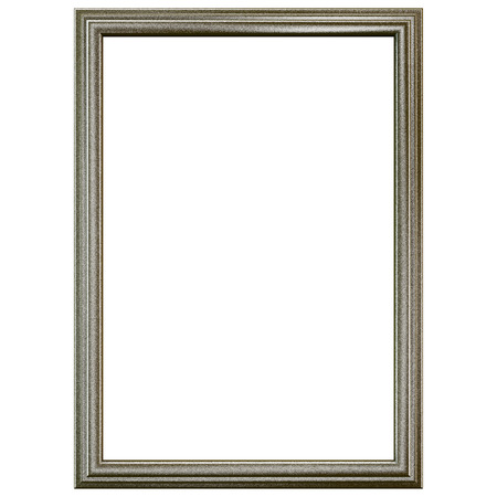 old frame: Silver old frame isolated on white. Clipping path included.