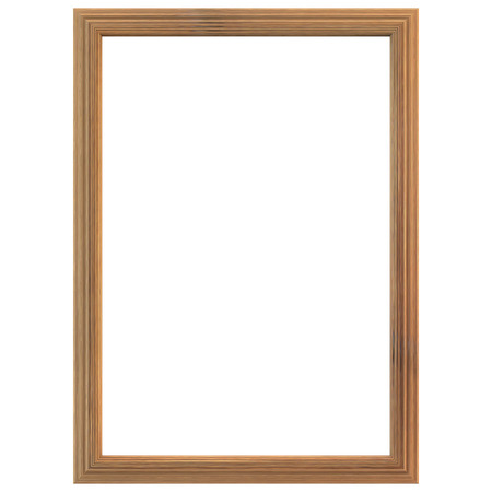Wooden frame isolated on white background. Clipping path included.