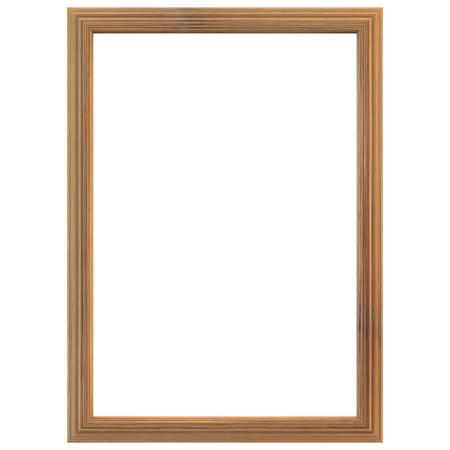 marco madera: Marco de madera aislado en el fondo blanco. El camino de recortes incluido.