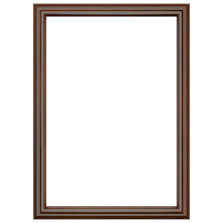 marco madera: Clásico marco de madera de color marrón oscuro aislado en blanco. Parth de recorte incluido. Foto de archivo