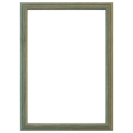 old frame: Old green wood frame isolated. Clipping path included.