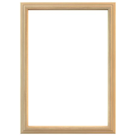Light wooden frame isolated. Clipping path included.