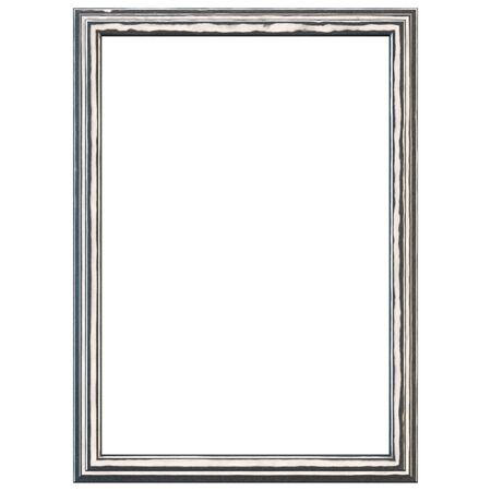 window frame: Silver metal frame isolated on white. Clipping path included.