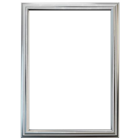 銀のフレームが白で隔離。クリッピング パスを含めます。