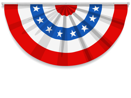 usa patriotic: Bunting for July 4th and most American holidays. Illustration