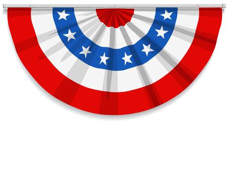 julio: Bunting para el 4 de julio y la mayoría de los días festivos americanos.