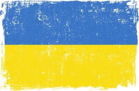 ukraine: Ukraine vector grunge flag isolated on white background.