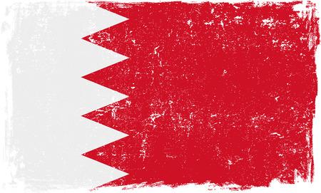 Bahrain vector grunge flag isolated on white background.