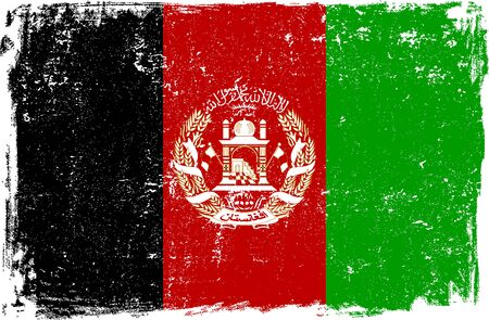 afghanistan: Afghanistan vector grunge flag isolated on white background.
