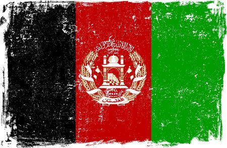 grunge flag: Afghanistan vector grunge flag isolated on white background.
