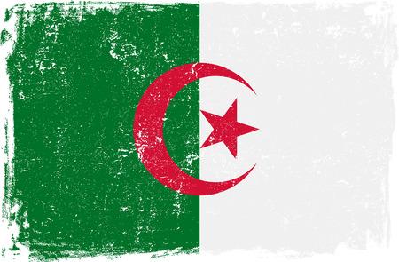 algerian flag: Algeria vector grunge flag isolated on white background. Illustration