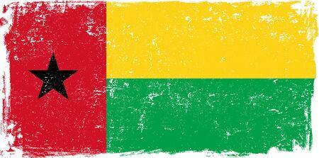 guinea bissau: Guinea Bissau vector grunge flag isolated on white background. Illustration