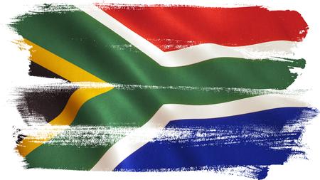 Sfondo bandiera del Sudafrica con texture tessuto. Archivio Fotografico - 81541716